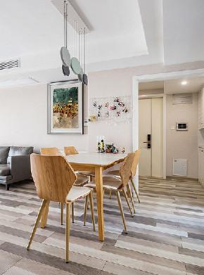 餐厅图片来自家装大管家在105平现代温暖3居 回归本真生活的分享