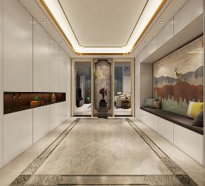 别墅 新中式风格 首创澜茵山 玄关图片来自业之峰装饰旗舰店在韵的分享