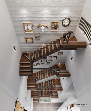 楼梯图片来自北京高度国际在潮白河孔雀城---北欧风格的分享