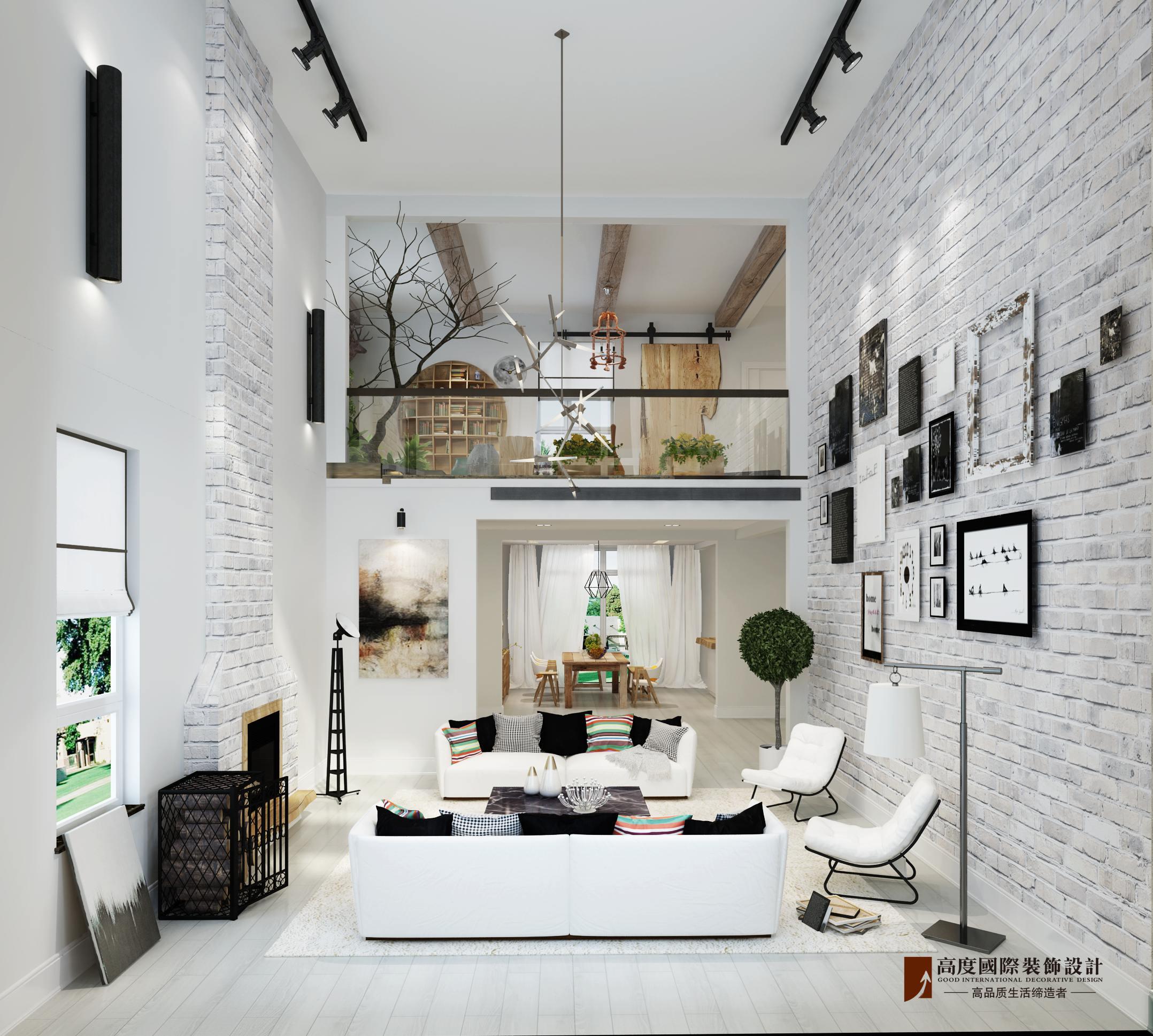 客厅图片来自北京高度国际在潮白河孔雀城---北欧风格的分享