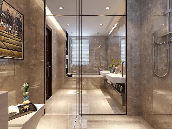主卫格局设置为三分离形式,马桶间,淋浴房,洗漱区分开使用互不影响,且创造了主卫干燥的客观条件。酒店式的卫生间配置,自动马桶,给予使用者最舒适的体验。