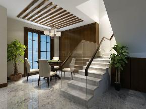 现代简约 复式 装修效果图 装修公司 西安装修 楼梯图片来自西安城市人家装饰王凯在龙湖花千树187平现代风格的分享