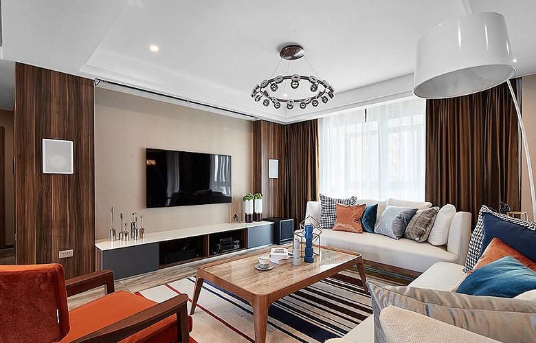 客厅图片来自家装大管家在120平简约雅致3居 回归最初美好的分享