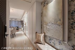 装修设计 装修完成 新古典 玄关图片来自幸福空间在225平, 优雅新古典  美感艺术宅的分享