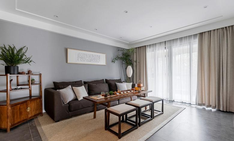客厅图片来自家装大管家在静谧穿越 138平混搭中式雅致3居的分享