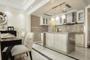 美式古典 平层 装修设计 厨房图片来自重庆兄弟装饰黄妃在江北华润中央公园150平米装修的分享