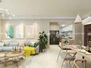 简约 清新北欧 小资 白领 收纳 温馨 舒适 梦想家 未来家 客厅图片来自二十四城装饰(集团)昆明公司在保利中航玺樾  清新北欧风的分享