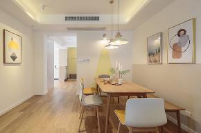 简约 三居 旧房改造 80后 餐厅图片来自北京今朝装饰在简约北欧风三居室装修案例的分享