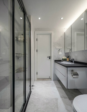 欧式 二居 收纳 旧房改造 80后 卫生间图片来自北京今朝装饰在70㎡北欧混搭风格二居室的分享