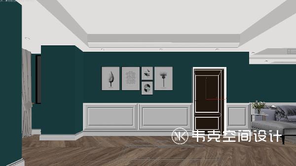 考虑到入户玄关的位置及空间的整体布局,入户空间以简约为主,并没有安置任何家居装饰物,以免阻挡过道交通动线。