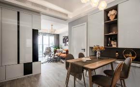 欧式 二居 收纳 旧房改造 80后 餐厅图片来自北京今朝装饰在70㎡北欧混搭风格二居室的分享