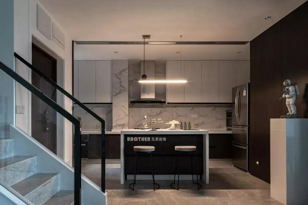 一楼设计从平面功能布局上打破对常规客餐厅的理解,以一种现代国际感的空间布局方式,引领一种全新的生活方式。