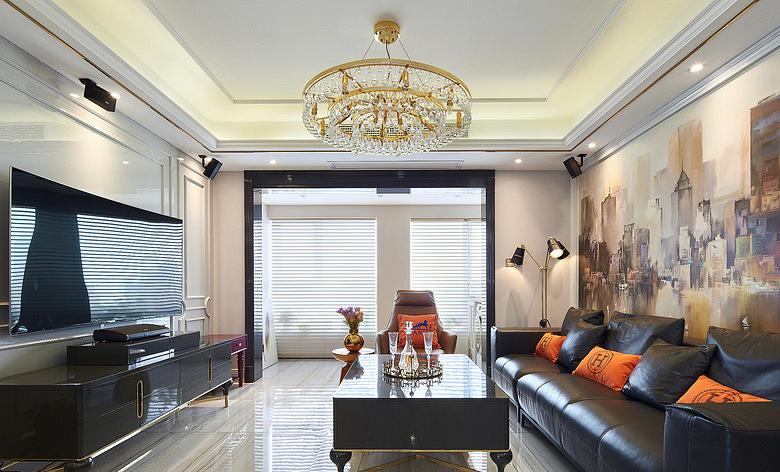 客厅图片来自家装大管家在内敛的奢华 128平现代简洁3居室的分享