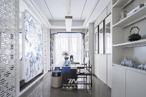 王五平设计 样板房设计 书房图片来自王五平设计在阳朔彰泰十里春风T2样板房的分享