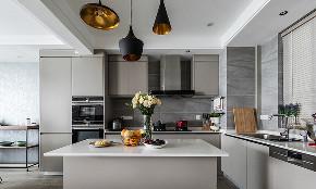 厨房图片来自家装大管家在开阔舒适 100平现代北欧混搭3居的分享