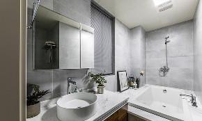 卫生间图片来自家装大管家在开阔舒适 100平现代北欧混搭3居的分享