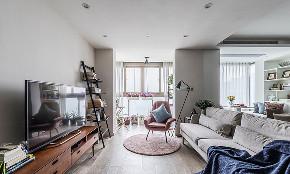 客厅图片来自家装大管家在开阔舒适 100平现代北欧混搭3居的分享