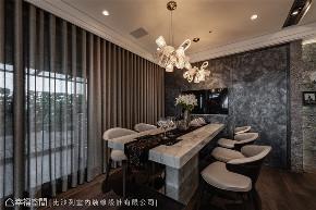 装修设计 装修完成 奢华风格 餐厅图片来自幸福空间在198平,高楼层景观绝美豪宅的分享