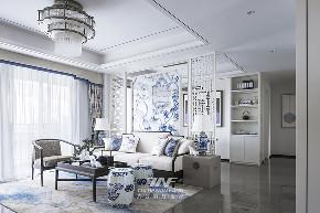 王五平设计 样板房设计 客厅图片来自王五平设计在阳朔彰泰十里春风T2样板房的分享