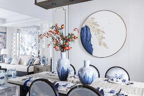 王五平设计 样板房设计 餐厅图片来自王五平设计在阳朔彰泰十里春风T2样板房的分享