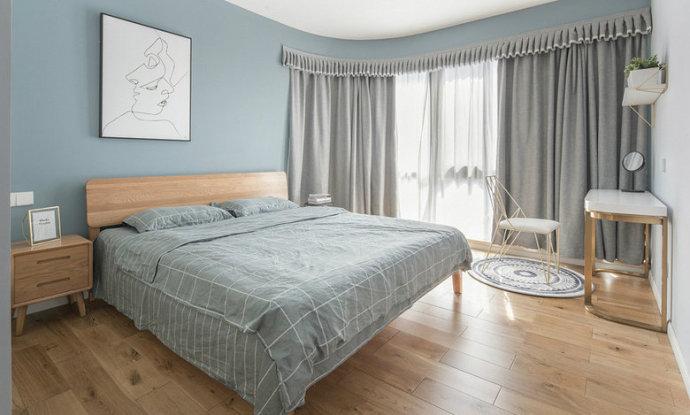 三居 欧式 收纳 旧房改造 80后 卧室图片来自北京今朝装饰在休闲惬意蓝灰色感觉好干净舒适!的分享