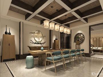南岸林语堂别墅装修设计中式效果