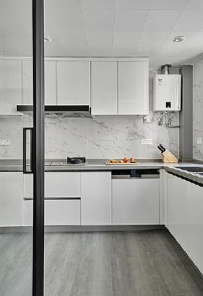厨房图片来自家装大管家在轻松惬意 136平现代简约清雅3居的分享