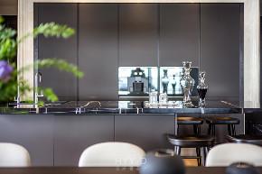 新中式 大平层 厨房图片来自郑鸿在新天鹅堡私宅设计|轻奢新中式的分享