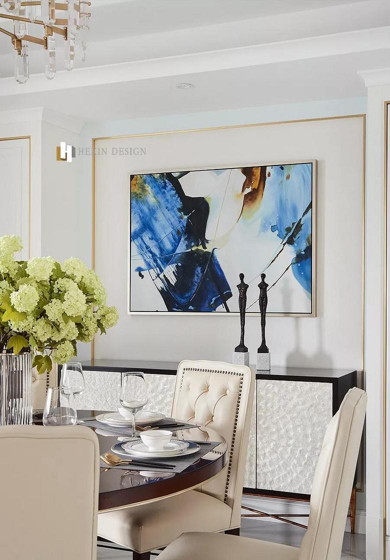 餐厅图片来自家装大管家在146平轻奢美式3居 都挺好的生活的分享