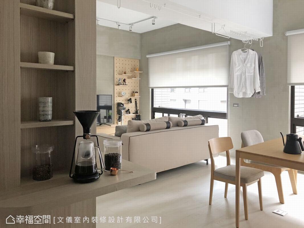装修设计 装修完成 现代风格 客厅图片来自幸福空间在53平,男子专属的简单生活的分享
