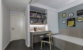 书房图片来自家装大管家在舒适的家 78平简约现代时尚空间的分享
