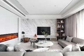 四居 现代 客厅图片来自快乐彩在城阳246平大平层典雅高级灰的分享