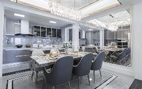 白领 客厅 简约 大户型 兄弟装饰 餐厅图片来自兄弟装饰-蒋林明在兄弟装饰|融创白象街装修设计的分享