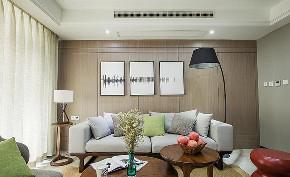 客厅图片来自家装大管家在优雅舒适 107平现代简约时尚3居的分享