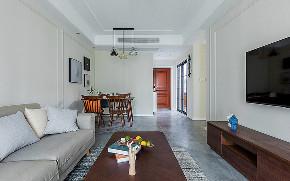 客厅图片来自家装大管家在删繁就简 92平现代简约舒适空间的分享