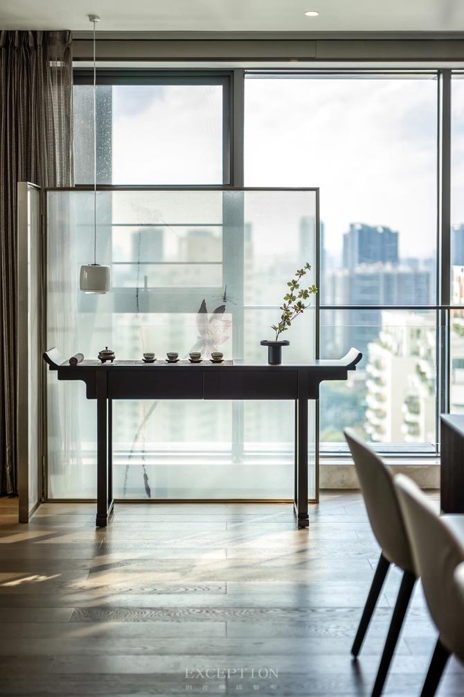 新天鹅堡 新中式 四居 私宅设计 阳台图片来自例外软装设计在新天鹅堡私宅设计--绝美新中式的分享