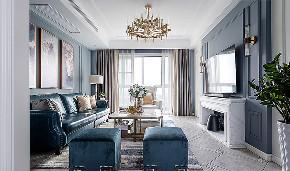 客厅图片来自家装大管家在去繁从简 140平现代雅致舒适3居的分享