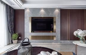 客厅图片来自家装大管家在稳重优雅 140平现代美式混搭3居的分享