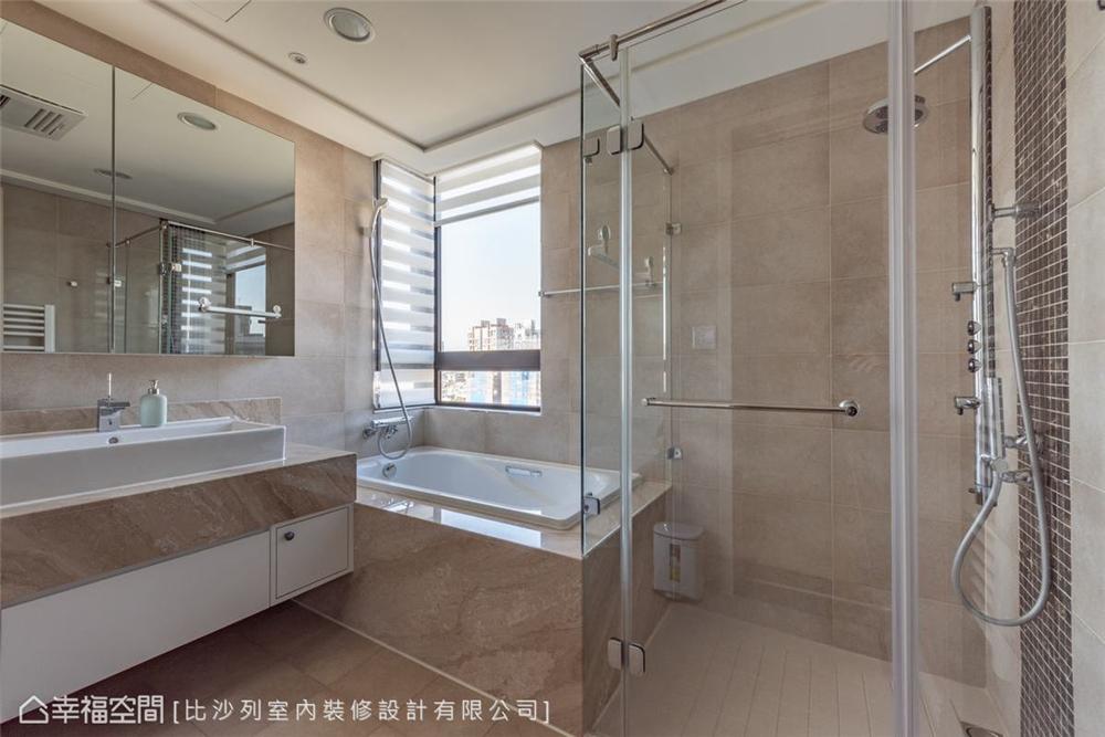 装修设计 装修完成 美式风格 卫生间图片来自幸福空间在126平, 当代古典的折衷主义的分享