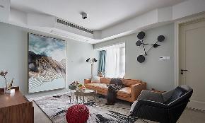 客厅图片来自家装大管家在116平现代混搭3居 心动的感觉的分享