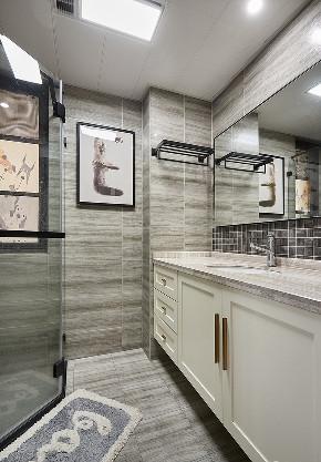 卫生间图片来自家装大管家在116平现代混搭3居 心动的感觉的分享