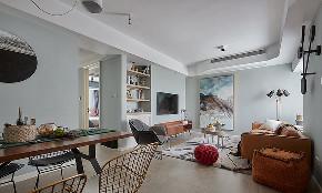 现代 混搭 三居 小资 客厅图片来自家装大管家在116平现代混搭3居 心动的感觉的分享