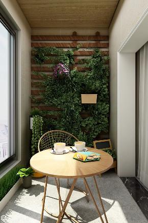 简约 三居 收纳 阳台图片来自河南追美装饰在和昌中央城邦115㎡简约风~的分享