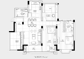 欧式 三居 白领 户型图图片来自禾景大陈设计在与爱人共度锦绣芳华的分享