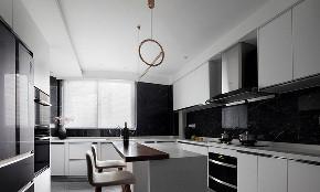 厨房图片来自家装大管家在时尚年轻 118平黑白现代简约3居的分享