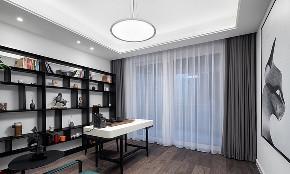 书房图片来自家装大管家在时尚年轻 118平黑白现代简约3居的分享
