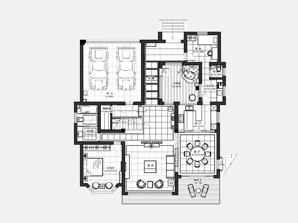 设计师推崇简约、干净的低度设计,之于本案,设计师巧妙的将这种简约干净的设计与传统文化的东方的静谧之美加以结合,赋简约的精致以静谧的情怀,在多与少、黑与白之间,对空间进行演绎。