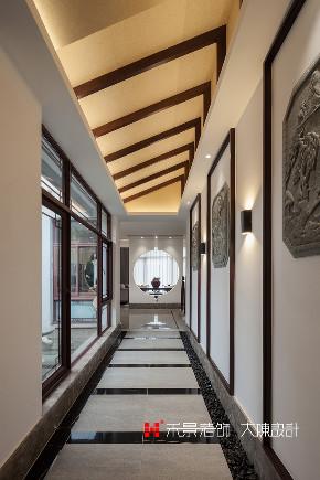 别墅 玄关图片来自禾景大陈设计在意境悠远中式韵,吾心归处即是家的分享