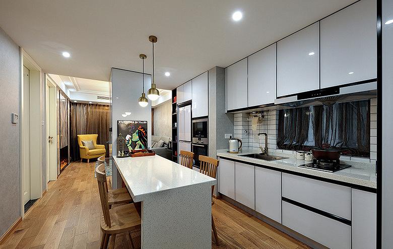 厨房图片来自家装大管家在明亮恬静 95平现代混搭舒适两居的分享