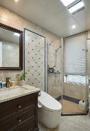 卫生间图片来自家装大管家在美观实用 130平美式田园混搭3居的分享